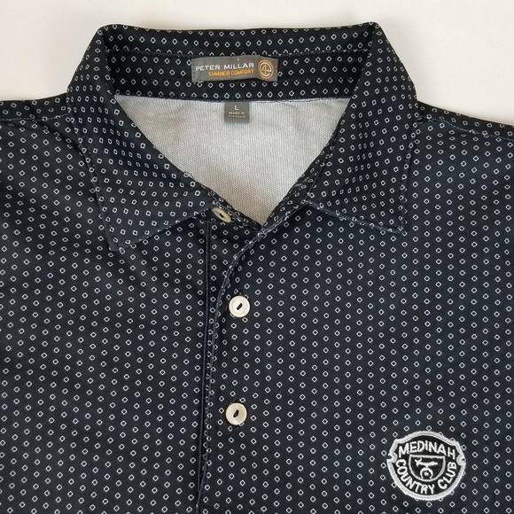 979e493fb4ff Peter Millar L Summer Comfort Golf Polo Shirt. M 5aa98dc59d20f0f42760f70b